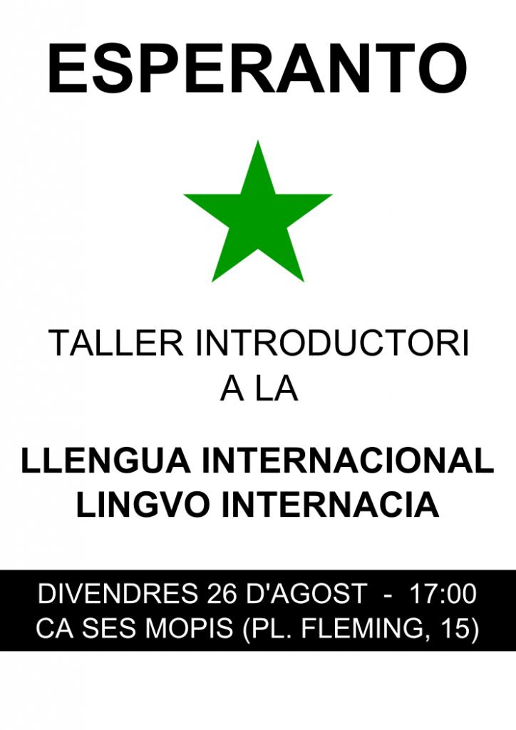 Esperanto: Taller introductori a la llengua internacional