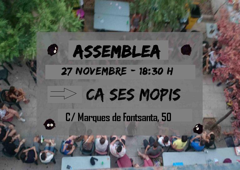 Activitats Ca Ses Mopis (26 i 27 novembre)